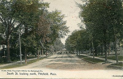 Pittsfield, MA, South St. looking North - Rotograph