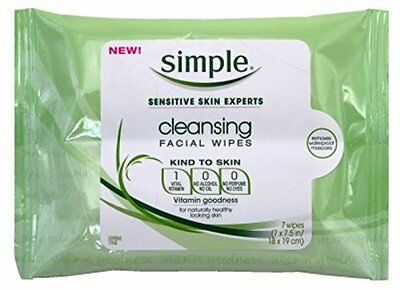 Simple Cleansing Facial Wipes 7'S (3 Pack)