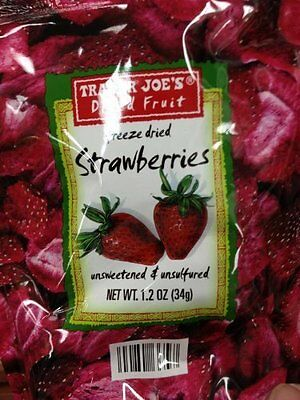 Trader Joe's Freeze Dried Strawberries Unsweetened & Unsulfured 1.2oz by Tr