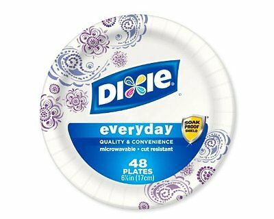 Dixie Heavy Duty Paper Plates, 6.875 Inch, 48 Count (Pack of 3)