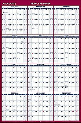 AT-A-GLANCE Wall Calendar 2015, Vertical and Horizontal Year