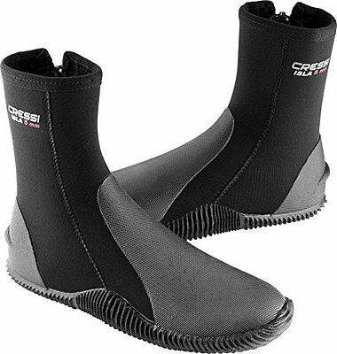 Cressi Isla Boots with 5mm Premium Neoprene and Anti Slip Rubber Soles, Bla