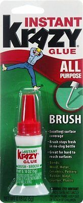 Instant Krazy Glue Brush Ceramic, Glass, Wood Leather, Rubber, Metal Bottle