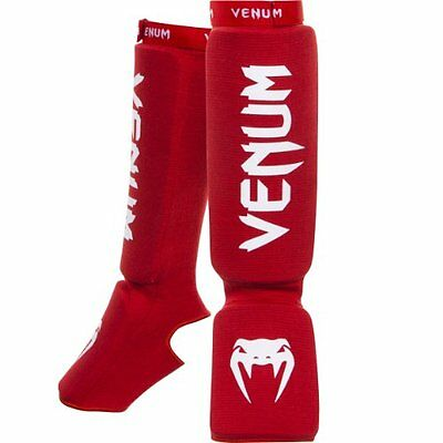 "Venum ""Kontact"" Shin and Instep Guards, Red"