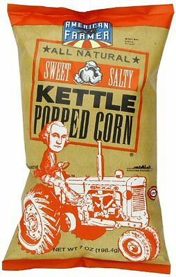 American Farmer Brand Kettle Popped Corn, Sweet and Salty, 7 Ounce