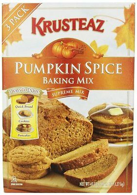 Krusteaz Pumpkin Spice Baking Mix (3ways to enjoy - Quick Bread, Cookies, o