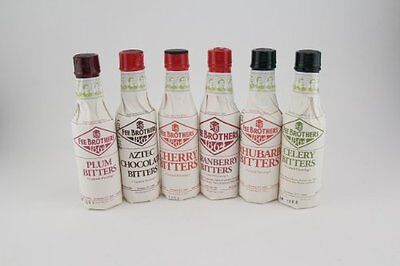 Fee Brothers Bar Cocktail Bitters Series II- Set of 6