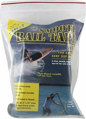 Surfco Sup Rail Tape Smooth Clear