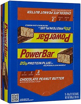 PowerBar Protein Plus 20g, Chocolate Peanut Butter, 2.12-Ounce Bars (Pack o