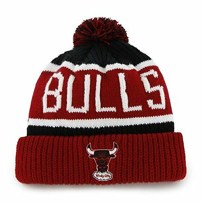 NBA Chicago Bulls Men's Calgary Knit Cuff Cap, One-Size, Black