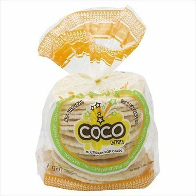 Coco Lite Multigrain Pop Cakes, All Natural Original, 2.64-Ounce (Pack of 2