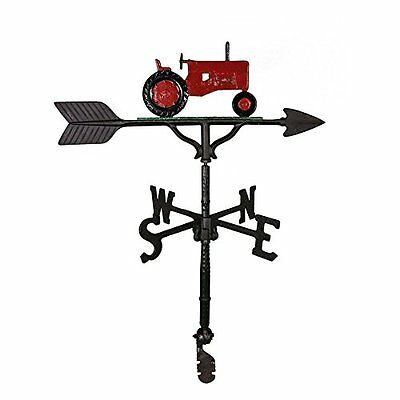 Montague Metal Products 32-Inch Weathervane with Red Tractor Ornament
