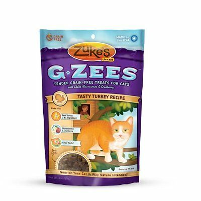 Zuke's Cat G-Zees Tasty Turkey Recipe, 3-Ounce