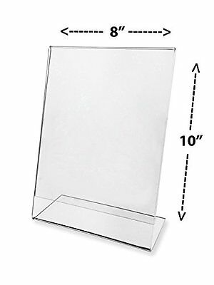 Advantage (3 Pack) 8 X 10 Slant Back Clear Acrylic Sign Holder Ad Frame by