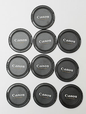 Pack of 10 Lens Caps 58mm Snap on for Canon.
