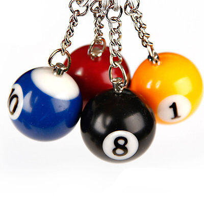 Billiard Key Ring Gift Ball Assorted Color Pool Keychain 16 PCS Table Key Chain