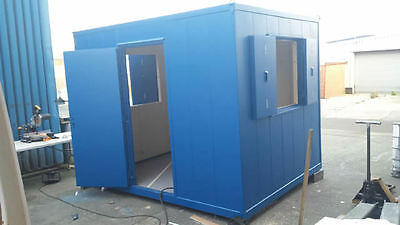 10 ft x 8 FT anti vandal insulated steel site office SHIPPING CONTAINER TO HIRE
