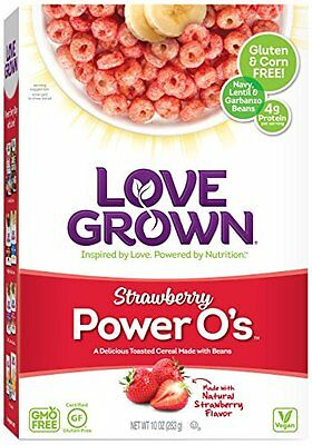 Love Grown Foods Power O's Cereal, Strawberry, 10 Ounce