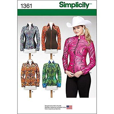 Simplicity Creative Patterns 1361 Misses' Knit Equestrian Performance Shirt