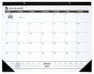 AT-A-GLANCE Monthly Desk Calendar 2015, 21.75 x 16 Inch Page Size (SK24-00)