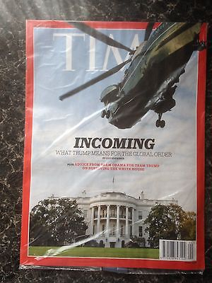TIME Magazine January 23, 2017 Incoming.Trump. In Unopened Mail Wrap