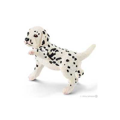 Cucciolo di DALMATA animali in resina SCHLEICH miniature 16839 Farm Life DOG can