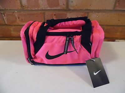 Nike Brasilia Gym Small Lunchbag Duffle Bag Holdall - Pink and Black - New
