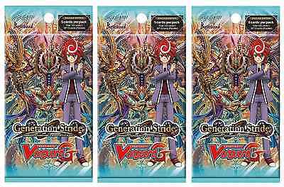 CFV Cardfight Vanguard - Generation Stride Pack of 3 Booster Packs Brand New