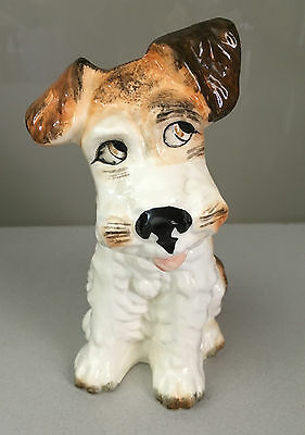 Vintage Sylvac Terrier Dog Model 1379 Brown Tones - Gloss Finish