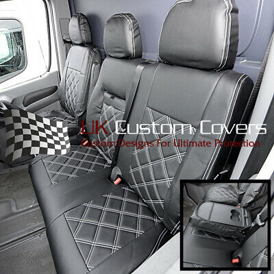 Vw Crafter Van - Leatherette Front Seat Covers 2010 Onwards 234