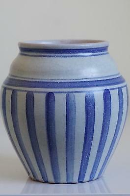 Early Carter Stabler Adams Poole Pottery Vase - Portuguese Stripe - c.1922