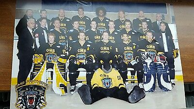 Nottingham Panthers Player  Squad  Photograph Large Autographed on rear.