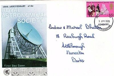 1970 ROYAL ASTRONOMICAL SOCIETY 150th ANNIVERSARY WESSEX FDC FROM COLLECTION A14