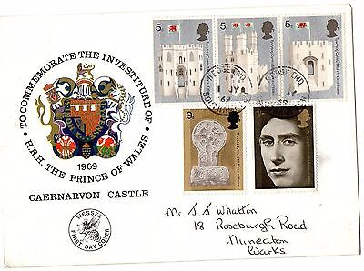 1969 Prince Of Wales Investiture Wessex Fdc From Collection A17