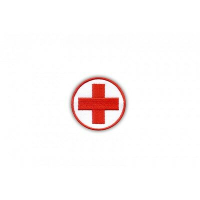 Medical patch - round with a red cross PATCH/BADGE