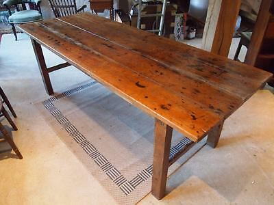 Table refectory farmhouse Victorian Pine and Oak Norfolk c1840