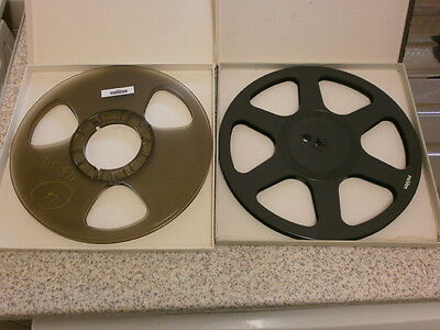 """Two 10"""" Reel To Reel Take Up Spools"""