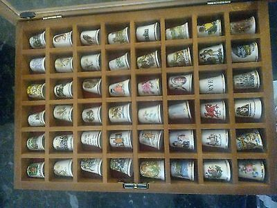 48 bone china thimbles in case.  British places of interest