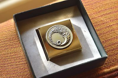 Ilias Lalaounis Jewelry Rare Shape Paper Weight Horn Of Plenty Silver Coin
