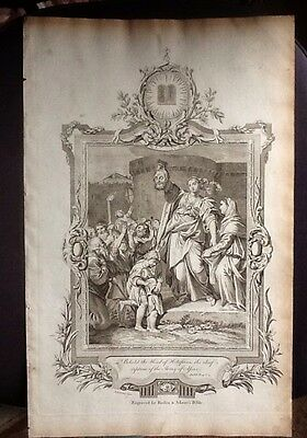 1770 Engraving Judith & Head Of Holofernes, Book Plate From Boden & Adam's Bible