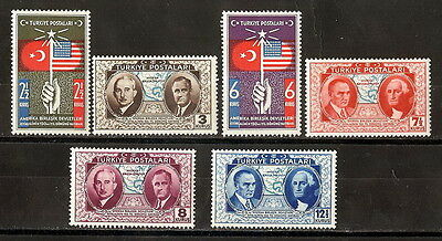 TURKEY 1939 '150th ANNIVERS. OF THE CONSTITUTION OF THE UNITED STATES' SET MNH