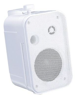E-Audio 6.5 Inch Background Music Speakers With Brackets 200w 8 Ohm White