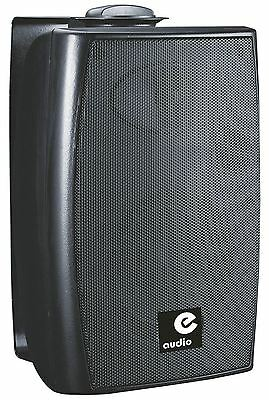e-audio E-Audio 60w Active Wall Mounted Speakers with Bluetooth 4.0 Black