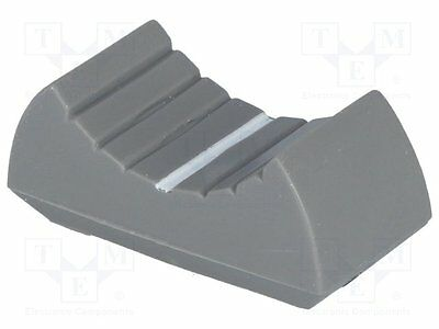 10 pcs Knob: slider; Colour: grey; 24x11x10mm; Mat: plastic material