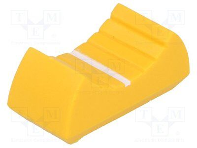 10 pcs Knob: slider; Colour: yellow; 24x11x10mm; Mat: plastic material