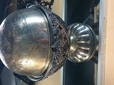 Antique Redfield & Rice New York Silver Plated 84 domed dish.