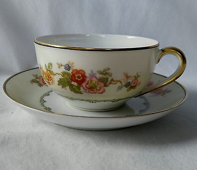 Noritake Pastura Cup and Saucer Set Vintage Discontinued Pattern Floral Coffee