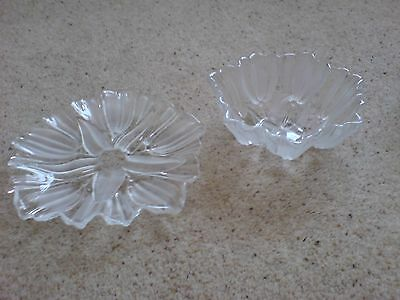 Tulip Bowl & Plate Glass Perfect Condition