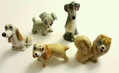 Wade 5 Figurines Disney's Lady And The Tramp