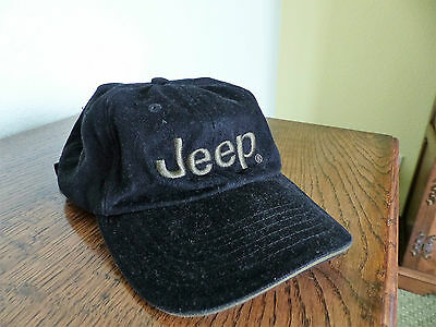 JEEP Baseball Cap, Black Corduroy with Brand Embroidered, NEW, one size fits all